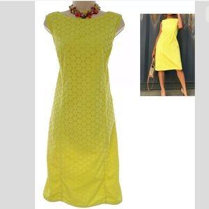 Size 14▪️TALBOTS SUNFLOWER EYELET SHEATH Dress